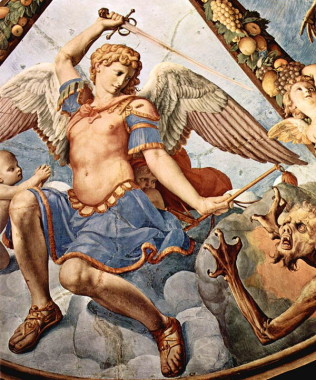 St Michael Archangel-Angelo_Bronzino_010 learning to be scrappy in the spiritual life